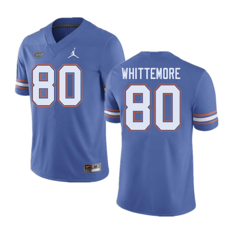 Jordan Brand Men #80 Trent Whittemore Florida Gators College Football Jerseys Sale-Blue